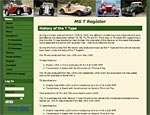 MG T Register website